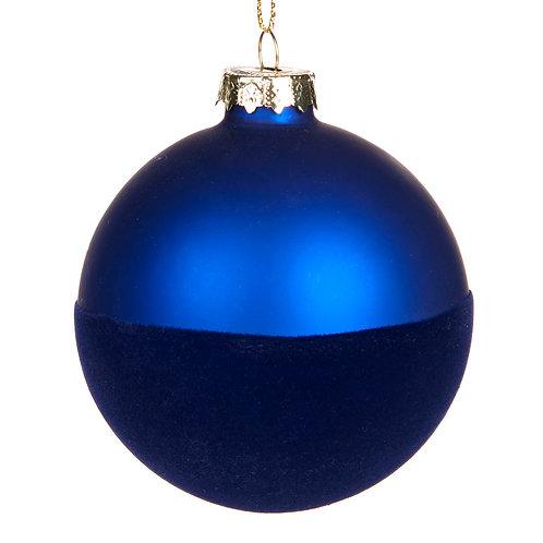 Bal half blauw fluweel