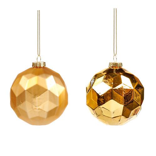 Set van 2, ballen facet goud