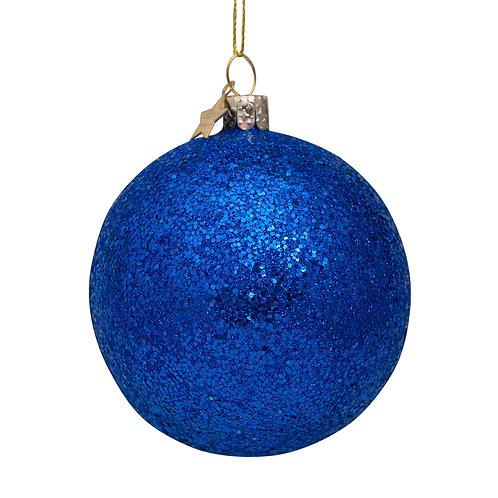 Bal blauw glitter