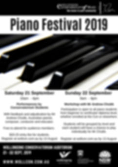 Piano Festival 2019 Poster Andrew Chubb