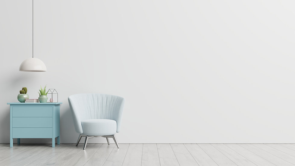 the-interior-has-a-armchair-on-empty-whi