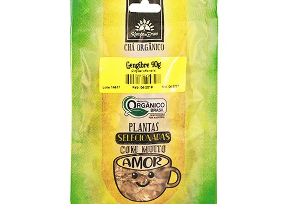 Gengibre Orgânico Lascas 40g I Kampo de Ervas