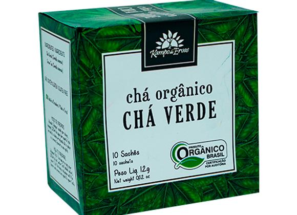 Chá Orgânico Chá Verde 10 sachês I Kampo de Ervas