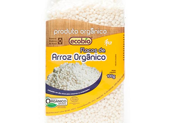 Flocos de Arroz a vácuo Orgânico 100g I Ecobio