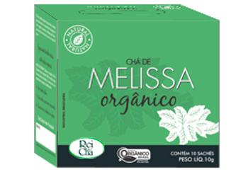 Chá Orgânico Melissa 10 sachês de 10g I Campo Verde
