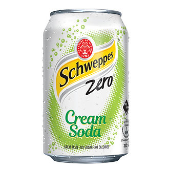 Schweppes Cream Soda Zero x8    330mlx8