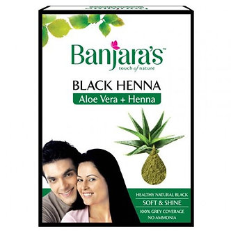 Black Henna with Aloe Vera  BANJARAS   50g