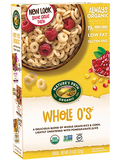Organic Gluten Free Whole O's Cereal NATURE'S PATH    11.5oz