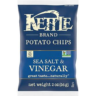 Kettle Chips Sea Salt & Vinegar   2oz