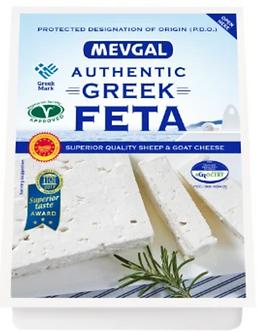 Greek Feta Cheese P.D.O.  MEVGAL    200g