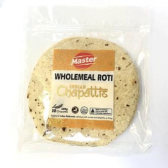 Indian Chapattis Wholemeal High Fibre Roti  MASTER   500g