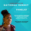 Genevieve the Inaugural VI Fellow Serves as a Panelists for the Young People For National Summit