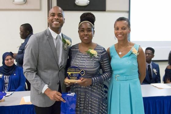 Genevieve Among Honorees of the 2017 UVI Golden Key Honor Society Pillar Awards