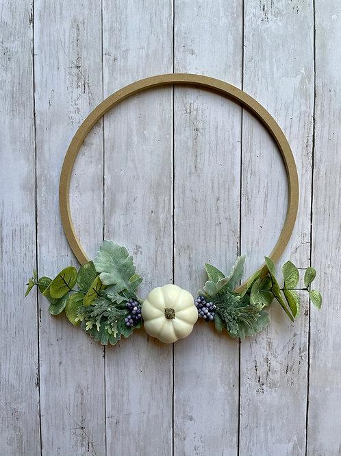 "12"" Fall Ring Wreath"