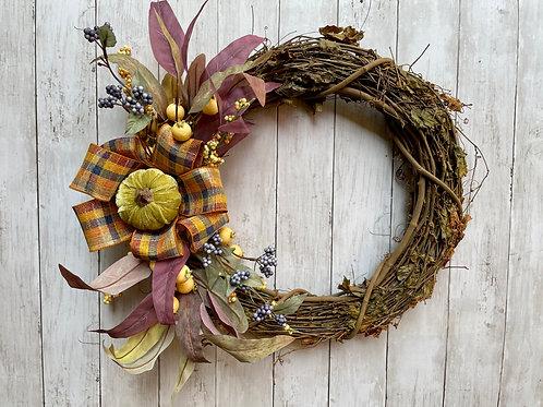 "18"" Grapevine Fall Wreath"