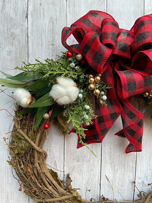 "18"" Rustic Holiday Wreath"