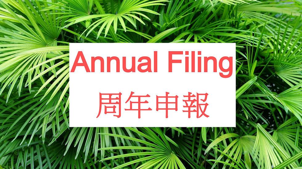 Annual Filing 周年申報