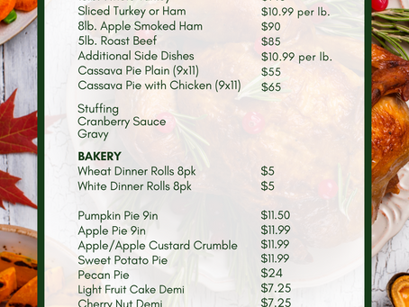 Thanksgiving pre-orders are open!