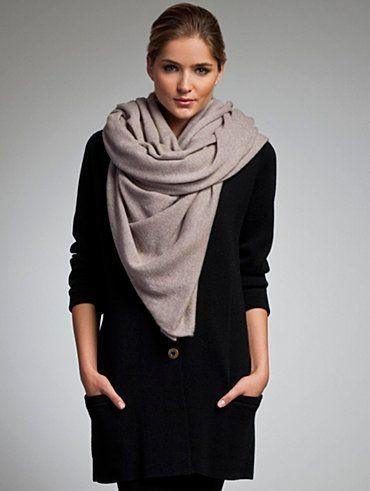 LOOK: blanket scarf
