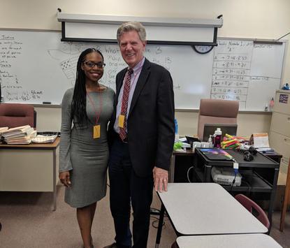 Highland Park High School with Congressman Frank Pallone