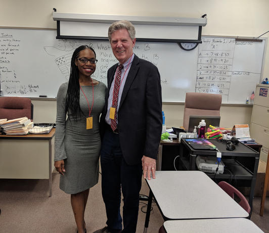Highland Park High School with Congressman Frank Pallone