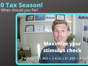 2020 Tax Season & When to File