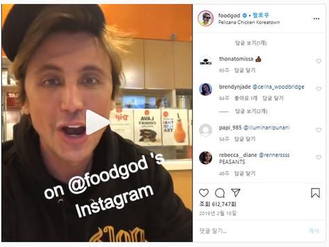 We're on Foodgod's instagram