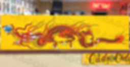 Lucky Dragon Sign Painting