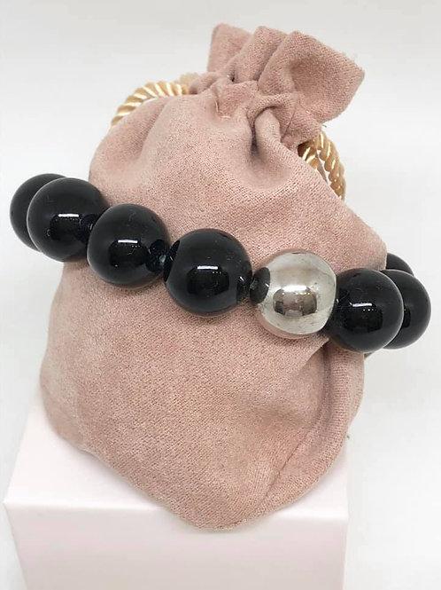 armband  zwarte parel