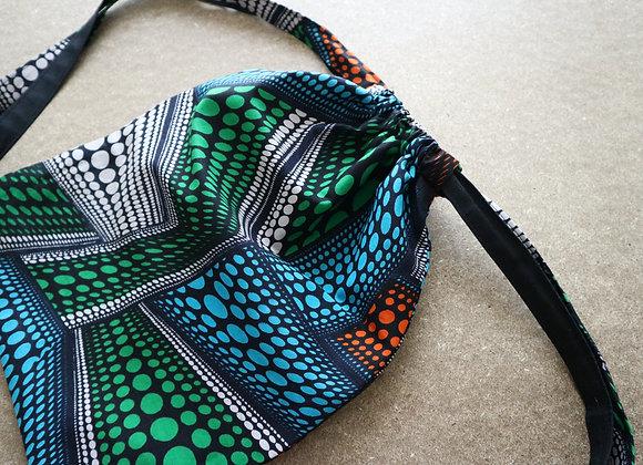 Multi-Dot Drawstring Bag