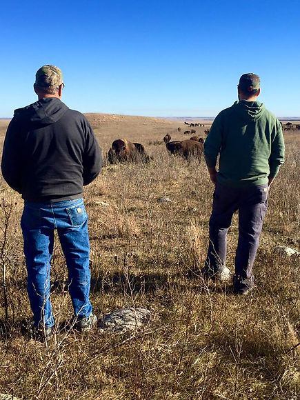 Kelsey Krapp and Oren Krapp - The Bison Ranch, Pingree, North Dakota hunting outfitter