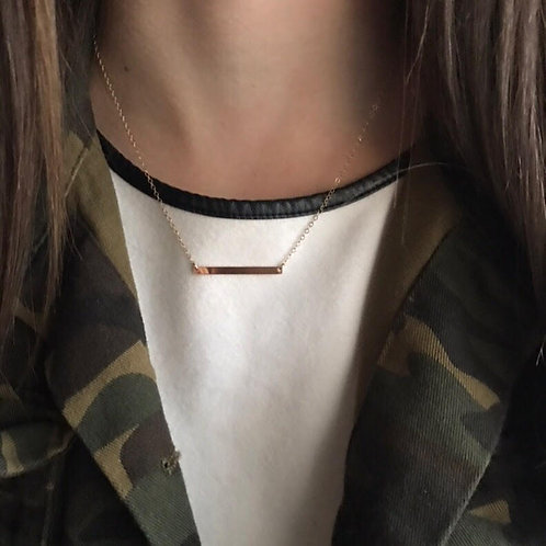 Very Skinny Bar Necklace