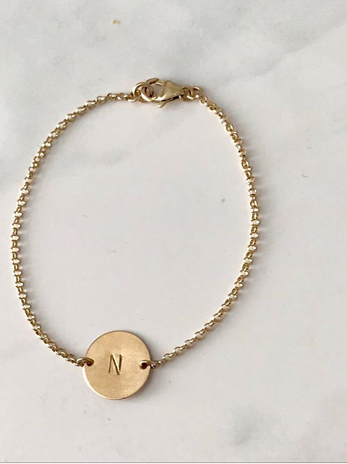 14k gold filled Monogrammed bracelet