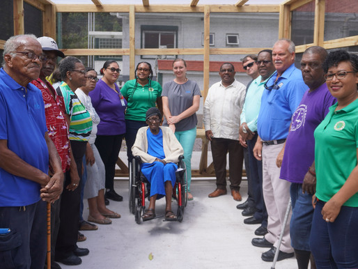 Construction greenhouse for senior citizens completed