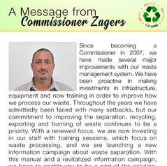 A Message from Commissioner Zagers