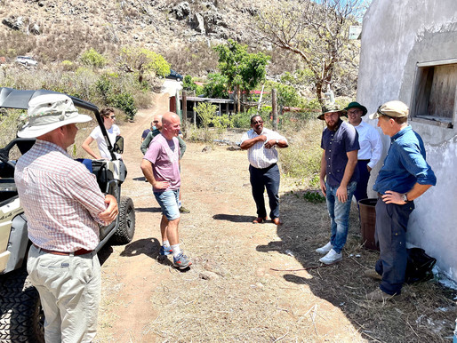 State Secretary Knops updated on goat control project