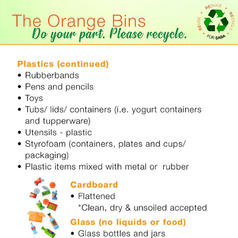 Orange Bins