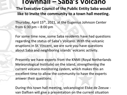 Townhall meeting on volcanoes this Thursday