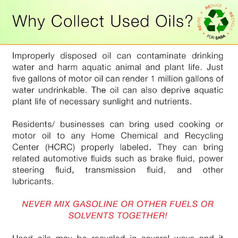 Why Collect Used Oil