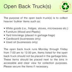Open Back Truck