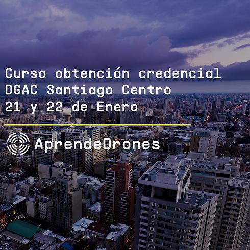 Obtención credencial DGAC Santiago Centro 21 y 22 de Enero