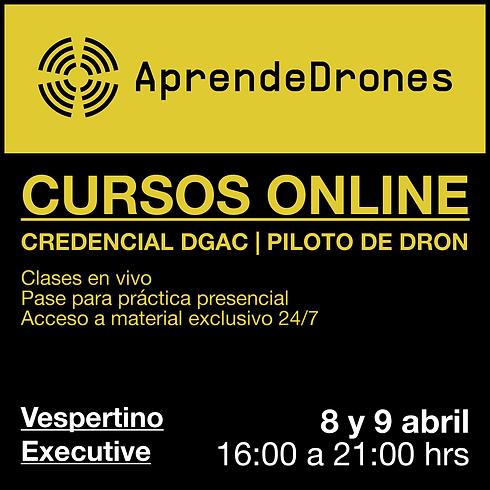 Obtención credencial DGAC ONLINE 08 y 09 de Abril Vespertino