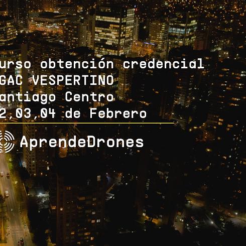 Obtención credencial DGAC VESPERTINO Santiago Centro 02,03,04 de Febrero