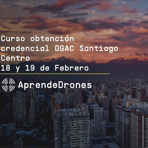 Obtención credencial DGAC Santiago Centro 18 y 19 de Febrero