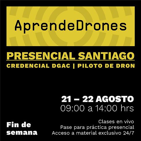 Obtención credencial DGAC Santiago Centro 21 y 22 de AGOSTO Presencial