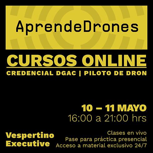 Obtención credencial DGAC ONLINE 10 y 11 de Mayo Vespertino
