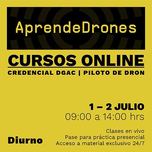 Obtención credencial DGAC ONLINE 01 y 02 de JULIO Diurno