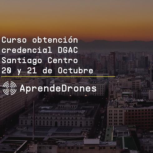 Obtención credencial DGAC Santiago Centro 20 y 21 de Octubre