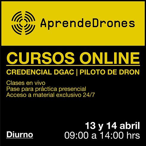 Obtención credencial DGAC ONLINE 13 y 14 de Abril Diurno