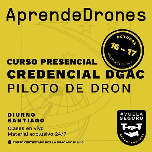 Obtención credencial DGAC Santiago Centro 16 y 17 de Octubre  PRESENCIAL